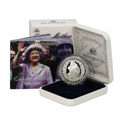 2002 $5 Silver Proof Coin – The Queen Mother (1900-2002)